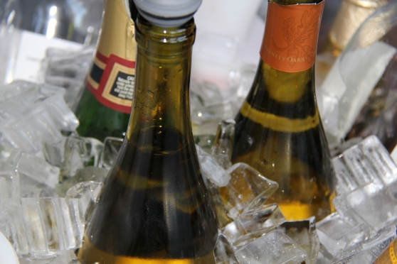 Wine bottles in ice - David Bunnell