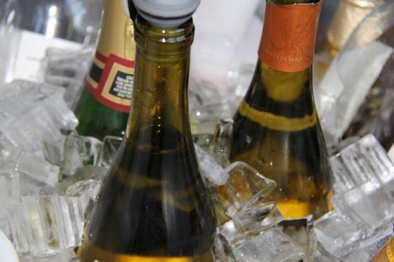 Wine bottles in ice - David Bunnell